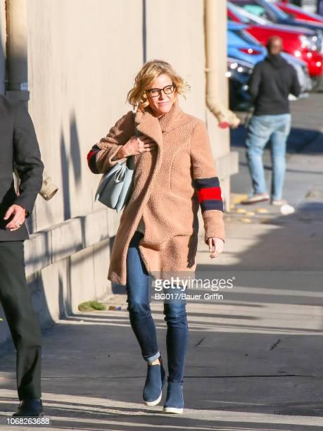 Julie Bowen is seen arriving at 'Jimmy Kimmel Live' on December 03 2018 in Los Angeles California