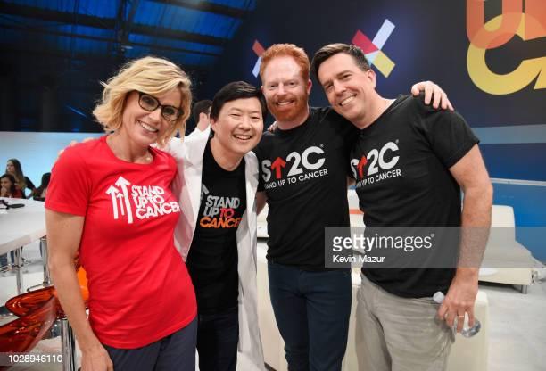 Julie Bowen Ken Jeong Jesse Tyler Ferguson and Ed Helms attend the sixth biennial Stand Up To Cancer telecast at the Barkar Hangar on Friday...