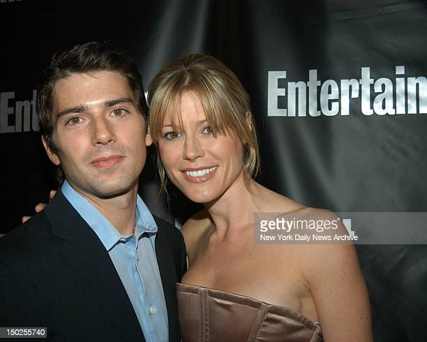 Julie Bowen with her fiance real estate investor and software developer Scott Phillips at the Entertainment Weekly Academy Awards Viewiing Party held...
