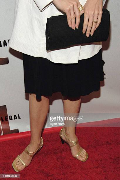 """Julie Bowen's ring, purse, and shoes during """"Boston Legal"""" Celebrates It's Season One DVD Debut at The 21 Club in New York City, New York, United..."""