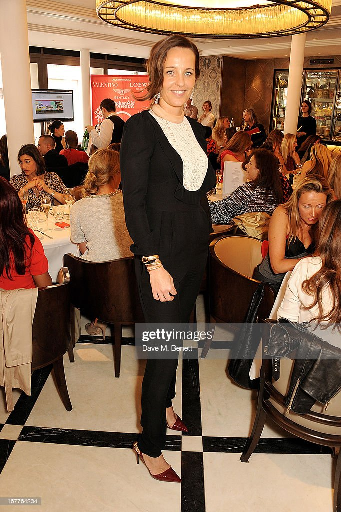 Julie Brangstrup attends the launch of Cash & Rocket, in aid of the (Red) Rush to Zero campaign, at Banca Restaurant on April 29, 2013 in London, England.