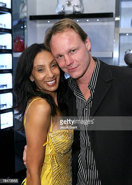 "Julie Brown and Martin Sherman at the Versace Presents ""Chocolate and Champagne"" event on December 13, 2007 at Versace in Beverly Hills, California."