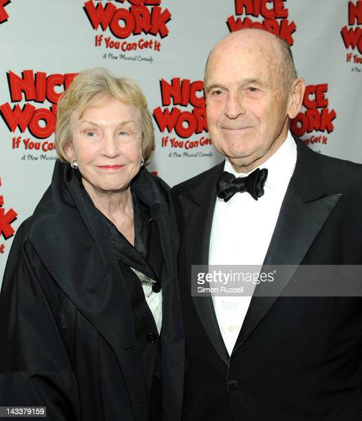 Julie Brown and Terrance McNally attend the Nice Work If You Can Get It Broadway opening night at the Imperial Theatre on April 24 2012 in New York...
