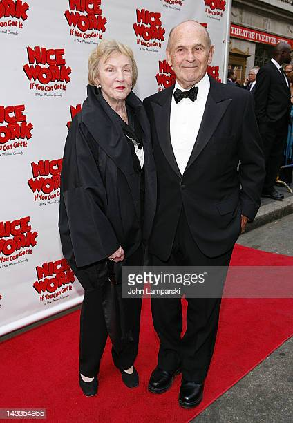 Julie Brown and Terrance McNally attends the Nice Work If You Can Get It Broadway opening night at the Imperial Theatre on April 24 2012 in New York...