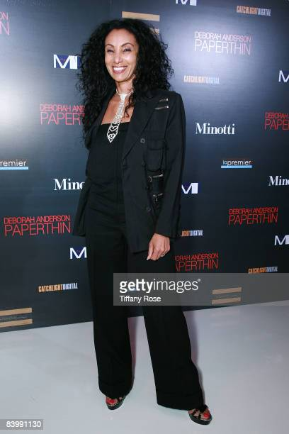 Julie Brown arrives at the Deborah Anderson book signing for Paperthin on December 10 2008 in Beverly Hills California