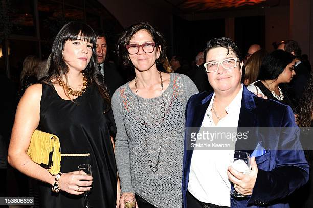 Julie Burleigh and Cathy Opie attend 2012 Hammer Gala at Hammer Museum on October 6 2012 in Westwood California