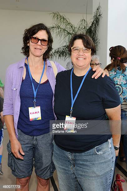 Julie Burleigh and Cathy Opie attend Hammer Museum KAMP 2014 on May 18 2014 in Los Angeles California