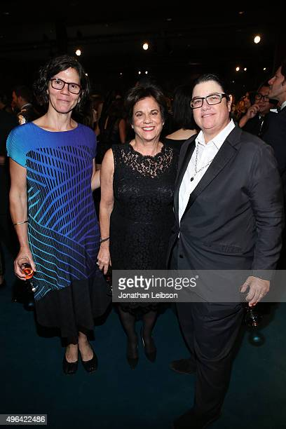 Julie Burleigh LACMA Curator Stephanie Barron and artist Cathy Opie attend LACMA 2015 ArtFilm Gala Honoring James Turrell and Alejandro G Iñárritu...