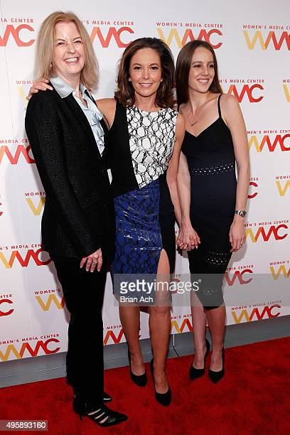 Julie Burton Diane Lane and Eleanor Lambert attend The Women's Media Center 2015 Women's Media Awards on November 5 2015 in New York City