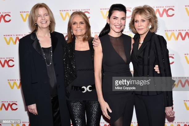 Julie Burton Gloria Steimem Julianna Margulies and Jane Fonda attend the Women's Media Center 2017 Women's Media Awards at Capitale on October 26...