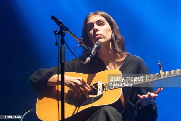 Julie Byrne performs on stage at Usher Hall on November 3 2019 in Edinburgh Scotland