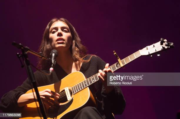 Julie Byrne performs on stage at Usher Hall on November 3, 2019 in Edinburgh, Scotland.