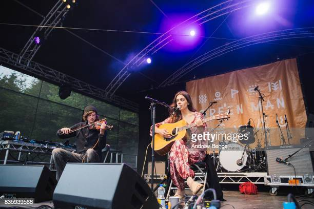Julie Byrne performs on the Walled Garden stage during day 4 at Green Man Festival at Brecon Beacons on August 20, 2017 in Brecon, Wales.