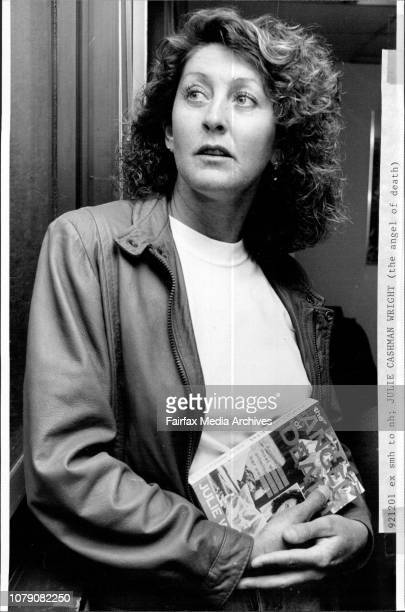 Julie Cashman Wright who has written a book on her life on the run October 31 1991