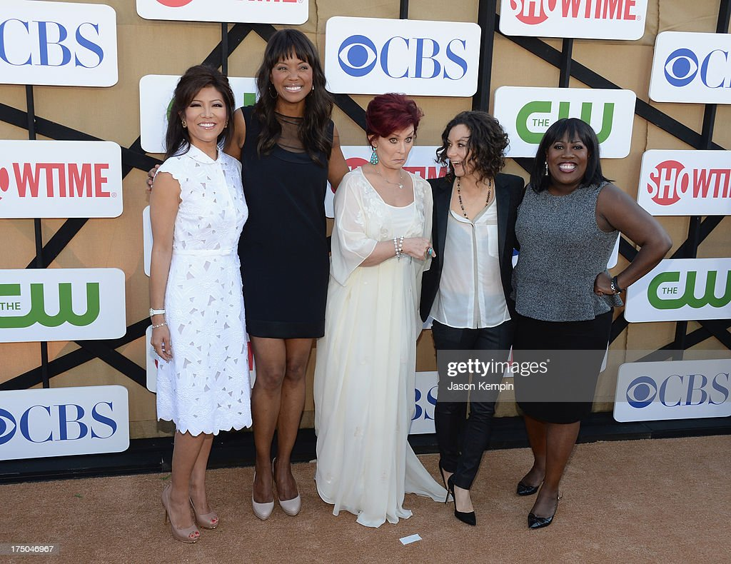 Julie Chen, Aisha Tyler, Sharon Osbourne, Sara Gilbert, and Sheryl Underwood attend the CW, CBS And Showtime 2013 Summer TCA Party on July 29, 2013 in Los Angeles, California.