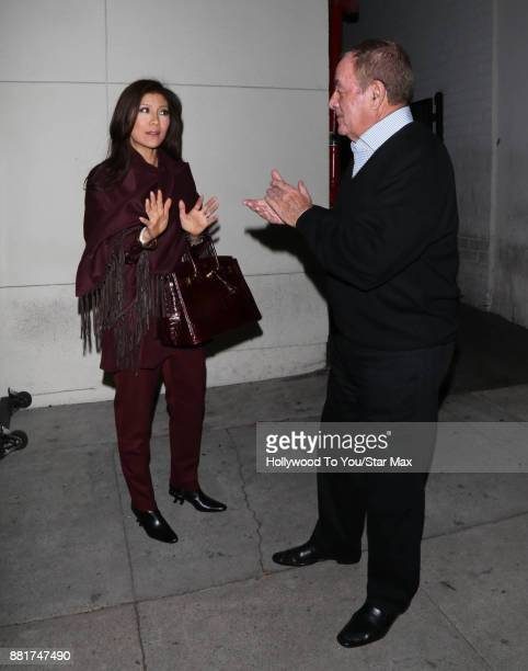 Julie Chen and Al Michaels are seen on November 28 2017 in Los Angeles CA