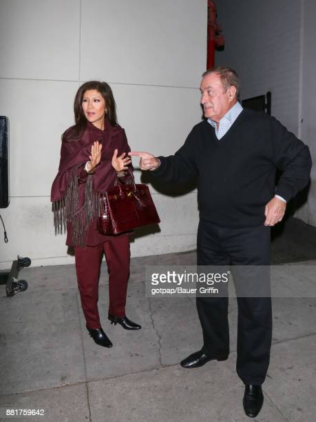Julie Chen and Al Michaels are seen on November 28 2017 in Los Angeles California