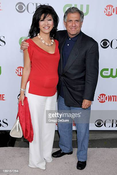 Julie Chen and Les Moonves arrive for the CBS CW CBS Television Studios Showtime TCA Red Carpet Party at the Huntington Library in Pasadena...