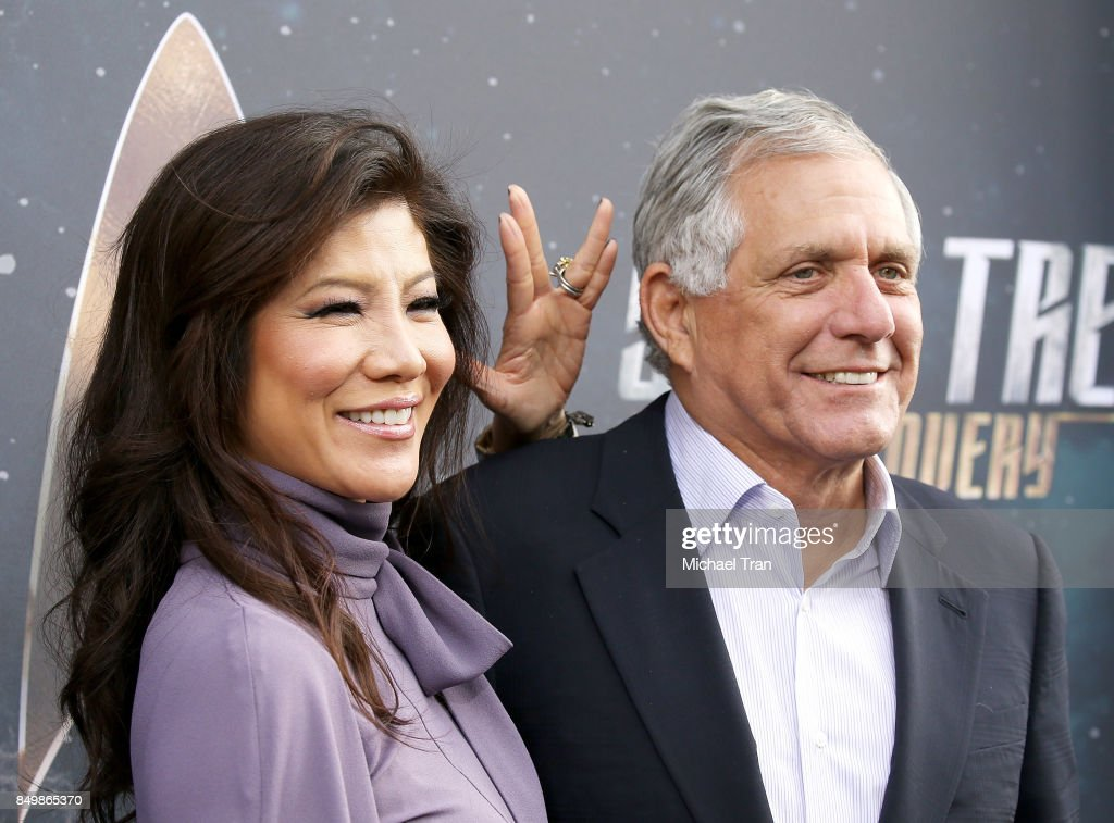 Julie Chen and Les Moonves attend the Los Angeles premiere of CBS's 'Star Trek: Discovery' held at The Cinerama Dome on September 19, 2017 in Los Angeles, California.