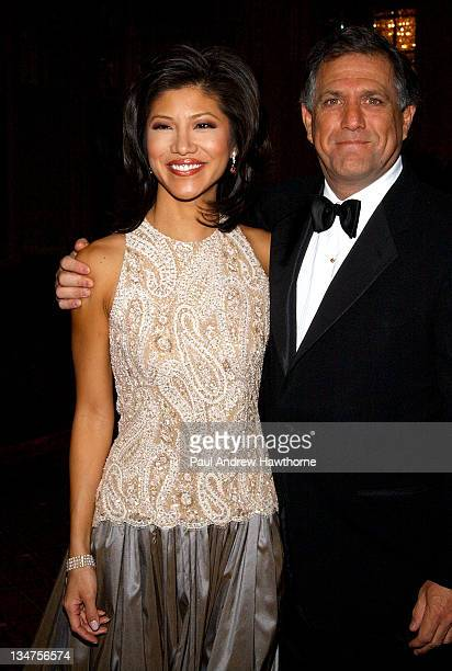 Julie Chen and Les Moonves CBS President/CEO during International Radio and Television Society Foundation 2004 Gold Medal Dinner at Waldorf Astoria...