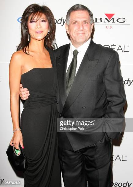 Julie Chen and Les Moonves during 2006 Clive Davis PreGRAMMY Awards Party Arrivals at Beverly Hilton Hotel in Beverly Hills California United States