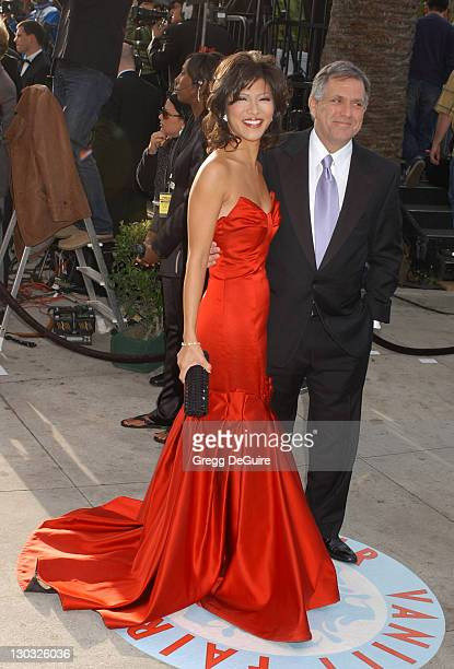 Julie Chen and Les Moonves during 2006 Vanity Fair Oscar Party Hosted by Graydon Carter Arrivals at Morton's in West Hollywood California United...