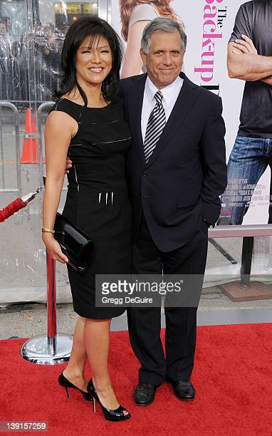Julie Chen and Leslie Moonves arrive at the CBS Films' Premiere of The Backup Plan at the Regency Village Theater on April 21 2010 in Westwood...