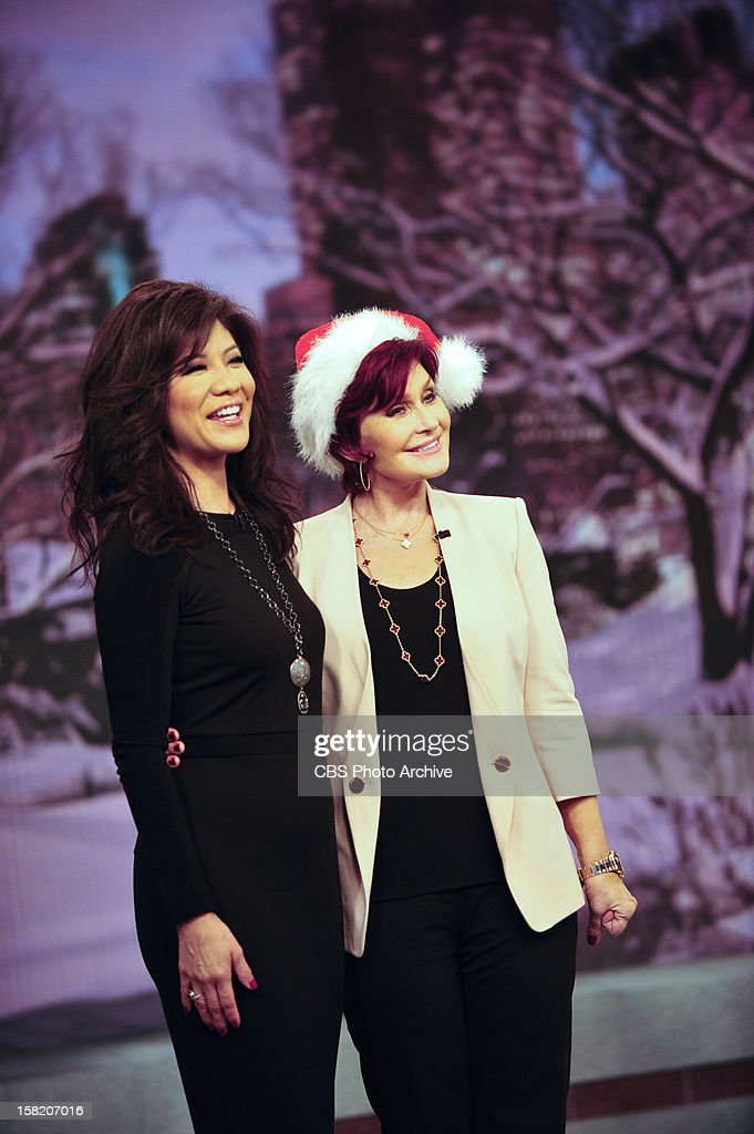 Julie Chen and Sharon Osbourne of THE TALK as the show broadcasts from New York City, Monday, December 10, 2012 on the CBS Television Network.
