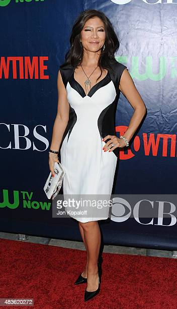 Julie Chen arrives at CBS CW And Showtime 2015 Summer TCA Party at Pacific Design Center on August 10 2015 in West Hollywood California