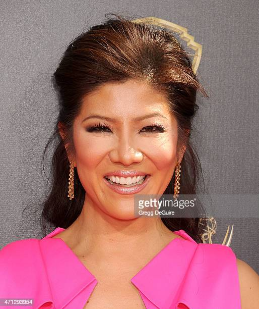 Julie Chen arrives at the 42nd Annual Daytime Emmy Awards at Warner Bros Studios on April 26 2015 in Burbank California