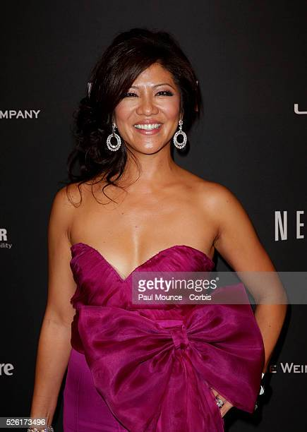Julie Chen arrives at the Weinstein Company Golden Globes AfterParty
