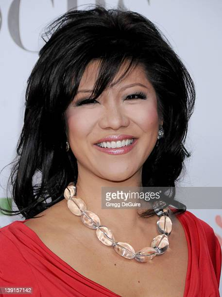 Julie Chen arrives for the CBS CW CBS Television Studios Showtime TCA Red Carpet Party at the Huntington Library in Pasadena California on August 3...