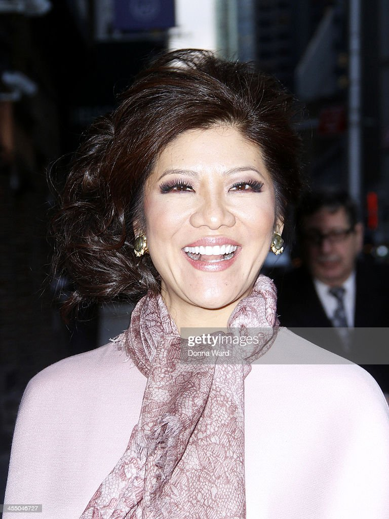 Julie Chen arrives for the 'Late Show with David Letterman' at Ed Sullivan Theater on December 10, 2013 in New York City.
