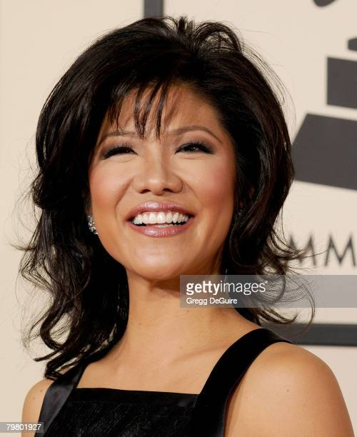 Julie Chen arrives to the 50th Annual GRAMMY Awards at the Staples Center on February 10 2008 in Los Angeles California