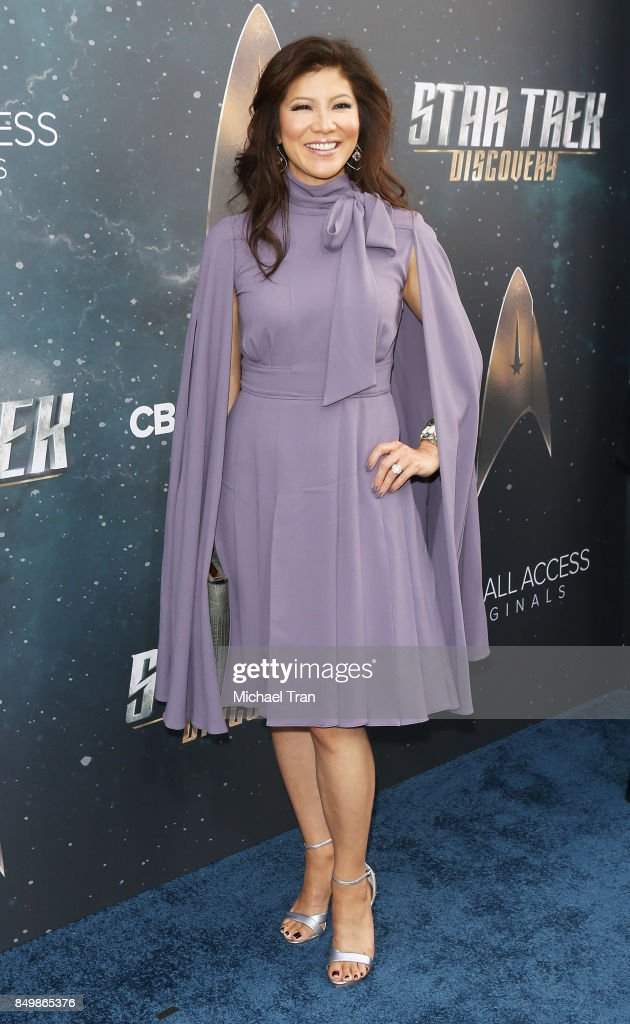 Julie Chen attends the Los Angeles premiere of CBS's 'Star Trek: Discovery' held at The Cinerama Dome on September 19, 2017 in Los Angeles, California.