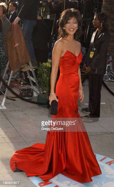 Julie Chen during 2006 Vanity Fair Oscar Party Hosted by Graydon Carter Arrivals at Morton's in West Hollywood California United States