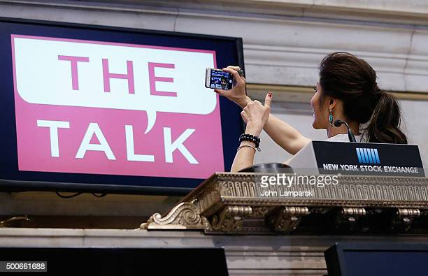 Julie Chen of CBS' The Talk rings the closing bell at the New York Stock Exchange on December 9 2015 in New York City