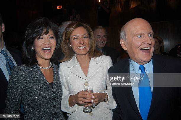 Julie Chen Suzy Welch and Jack Welch attend Rupert Murdoch Hosts a Cocktail Reception for the Release of Jack Welch's Book Winning at Four Seasons on...