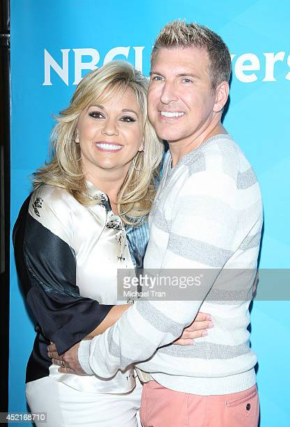 Julie Chrisley and Todd Chrisley arrive at the 2014 Television Critics Association Summer Press Tour NBCUniversal Day 2 held at The Beverly Hilton...