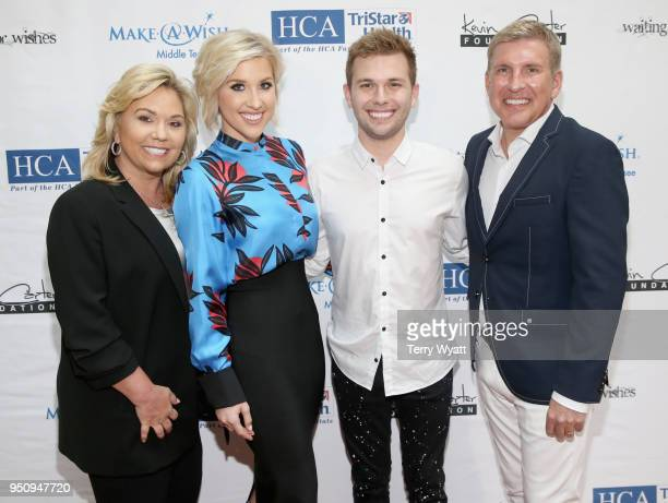 Julie Chrisley Savannah Chrisley Chase Chrisley and Todd Chrisley from reality show Chrisley Knows Best attend the 17th annual Waiting for Wishes...