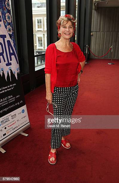 Julie Christie attends the West End Gala Performance of Queens Of Syria a modern adaptation of Euripides' antiwar tragedy 'The Trojan Women'...