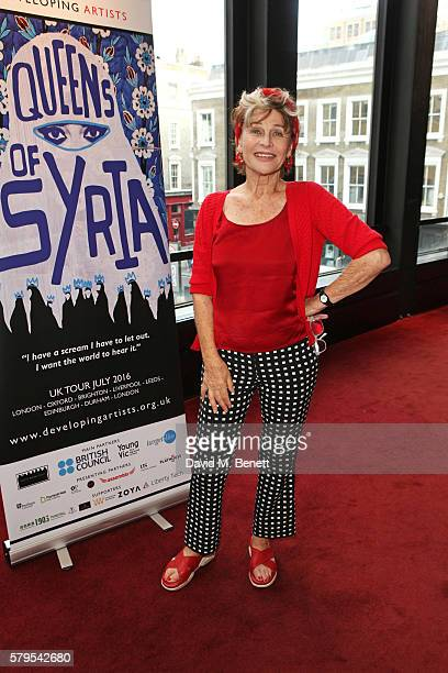 Julie Christie attends the West End Gala Performance of 'Queens Of Syria' a modern adaptation of Euripides' antiwar tragedy 'The Trojan Women'...