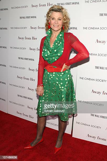 Julie Christie during 'Away From Her' New York Premiere Hosted by The Cinema Society and The Wall Street Journal Arrivals in New York City New York...