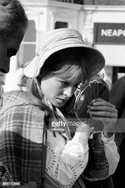 Julie Christie on the set of 'Far from the Madding Crowd' in Weymouth, Dorset, 27th September 1966.