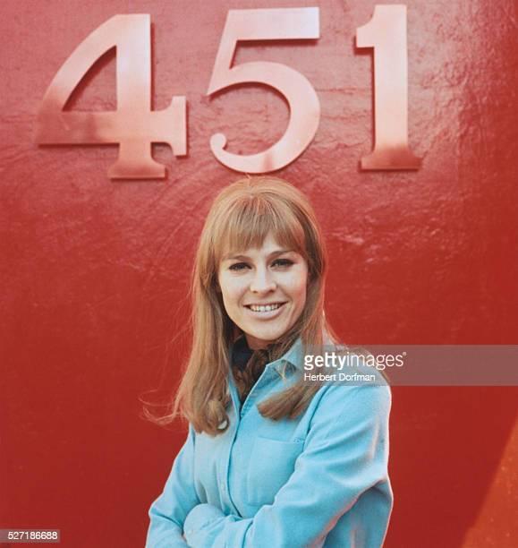 Julie Christie on the set of the 1966 film Fahrenheit 451