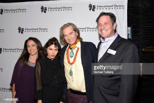 Julie Cohen actors Mercedes Kilmer and Val Kilmer and Brad Koepenick attend the 2019 annual Thespians Go Hollywood Gala at Avalon Hollywood on...