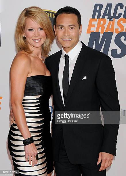 Julie Condra and Mark Decascos arrive at the 17th Annual Race to Erase MS event at the Hyatt Regency Century Plaza Hotel on May 7 2010 in Century...