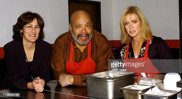 Julie Connella senior director of Programs and Services with James Avery and Donna Mills