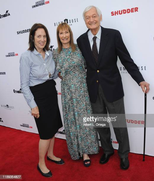 Julie Corman Gale Ann Hurd and Roger Corman attend the 6th Annual Etheria Film Showcase held at American Cinematheque's Egyptian Theatre on June 29...