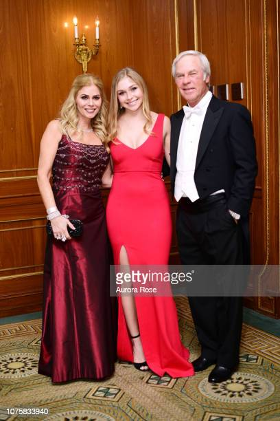 Julie Crenshaw Anna Riley Crenshaw and Ben Crenshaw attend The International Debutante Ball at The Pierre Hotel on December 29 2018 in New York City